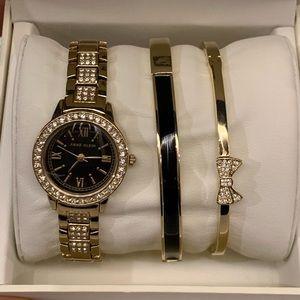 Anne Klein Women Watch & Bracelet Set